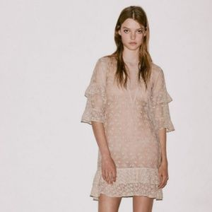 $320 AllSaints Henrietta Tulle Lace Embroidered